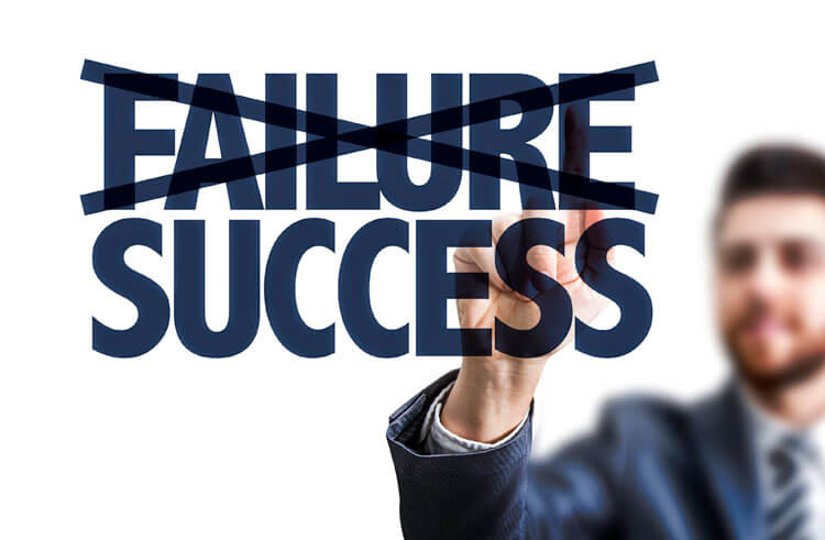 Man deleting the word failure to demonstrate that he has left behind his investment failures by engaging the services of Advice Only financial planner Sandi Miller, who offers financial plans and portfolio reviews for clients throughout Edmonton.